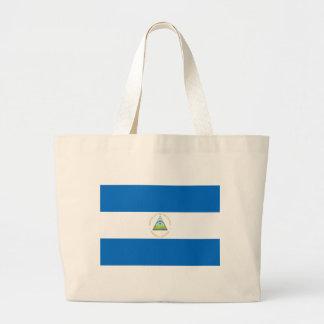Low Cost! Nicaragua Flag Large Tote Bag