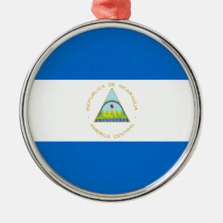 Low Cost! Nicaragua Flag Metal Ornament