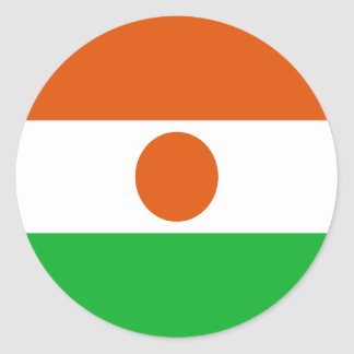 Low Cost! Niger Flag Classic Round Sticker