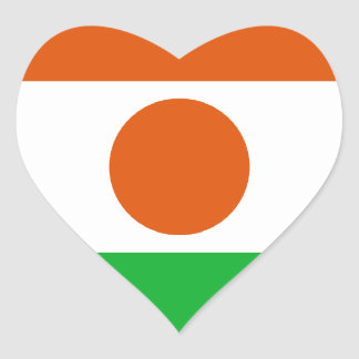 Low Cost! Niger Flag Heart Sticker