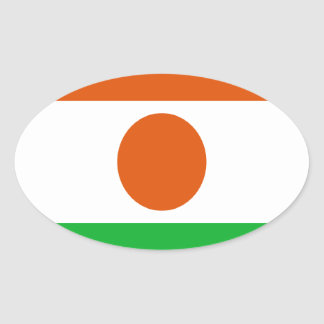 Low Cost! Niger Flag Oval Sticker