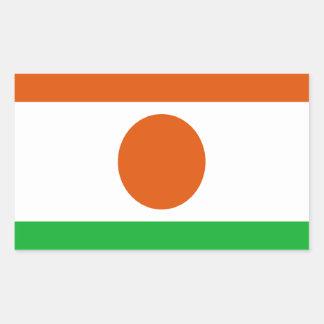 Low Cost! Niger Flag Rectangular Sticker