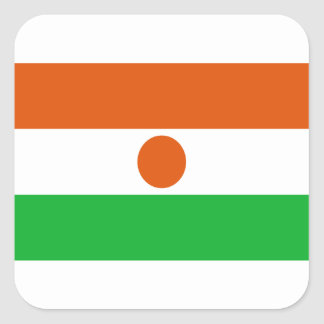 Low Cost! Niger Flag Square Sticker