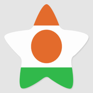 Low Cost! Niger Flag Star Sticker