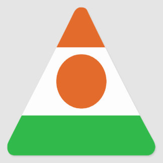 Low Cost! Niger Flag Triangle Sticker