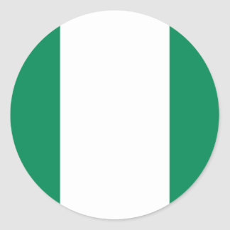 Low Cost! Nigeria Flag Classic Round Sticker