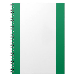 Low Cost! Nigeria Flag Notebook