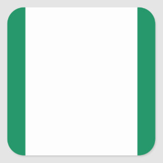 Low Cost! Nigeria Flag Square Sticker