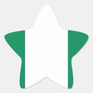 Low Cost! Nigeria Flag Star Sticker