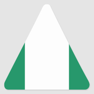 Low Cost! Nigeria Flag Triangle Sticker
