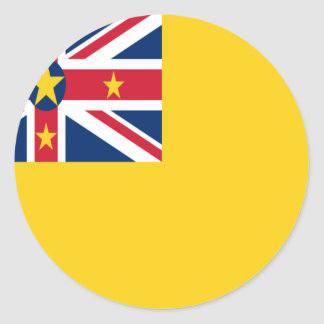 Low Cost! Niue Flag Classic Round Sticker