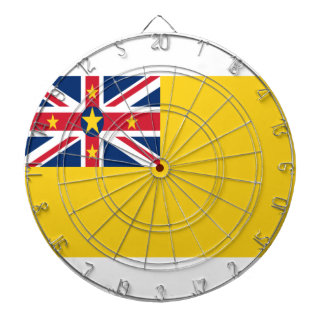 Low Cost! Niue Flag Dartboard