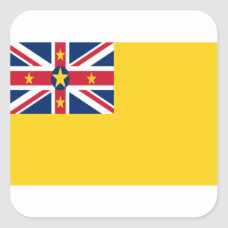 Low Cost! Niue Flag Square Sticker