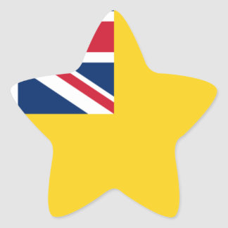 Low Cost! Niue Flag Star Sticker