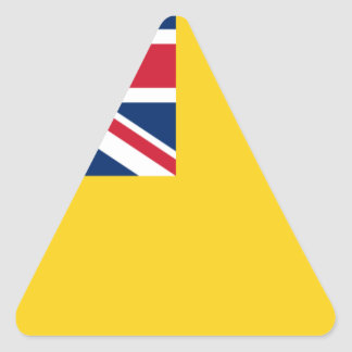 Low Cost! Niue Flag Triangle Sticker