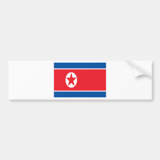 Low Cost! North Korea Flag Bumper Sticker