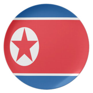 Low Cost! North Korea Flag Plate