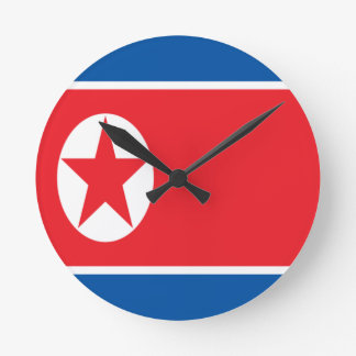 Low Cost! North Korea Flag Round Clock
