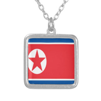 Low Cost! North Korea Flag Silver Plated Necklace