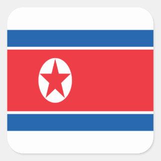 Low Cost! North Korea Flag Square Sticker