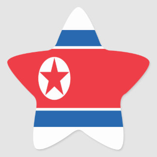 Low Cost! North Korea Flag Star Sticker