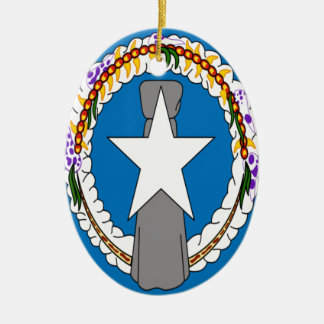 Low Cost! Northern Mariana Islands Flag Ceramic Ornament