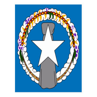 Low Cost! Northern Mariana Islands Flag Postcard