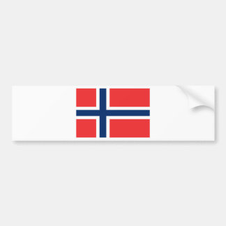 Low Cost! Norway Flag Bumper Sticker