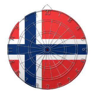Low Cost! Norway Flag Dartboard