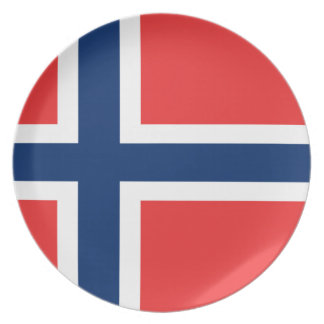 Low Cost! Norway Flag Plate