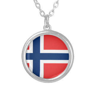 Low Cost! Norway Flag Silver Plated Necklace