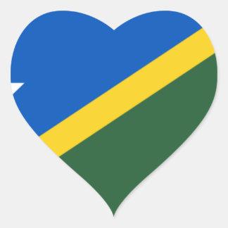 Low Cost! Solomon Islands Flag Heart Sticker