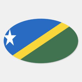 Low Cost! Solomon Islands Flag Oval Sticker