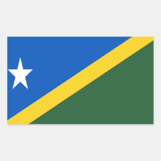 Low Cost! Solomon Islands Flag Rectangular Sticker