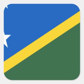 Low Cost! Solomon Islands Flag Square Sticker
