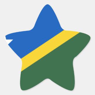 Low Cost! Solomon Islands Flag Star Sticker