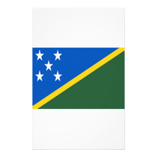 Low Cost! Solomon Islands Flag Stationery