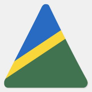 Low Cost! Solomon Islands Flag Triangle Sticker