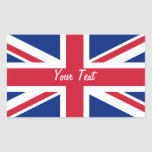 Low Cost Union Jack Flag Name Gift Tag Bookplate Rectangle Stickers