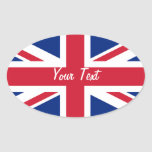 Low Cost Union Jack Flag Name Gift Tag Bookplate Oval Stickers