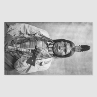 Low Dog - Native American vintage photo Rectangular Sticker