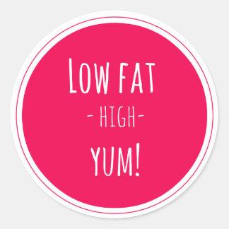 Low Fat High Yum Sticker