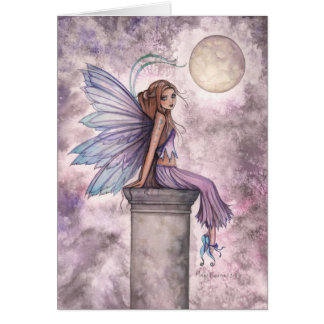 Low Hanging Moon Fairy Card