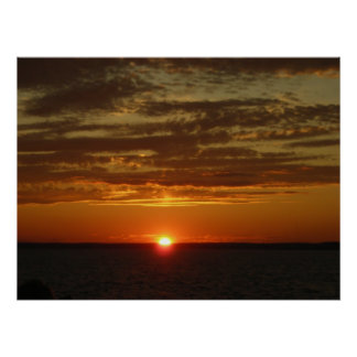 Low Horizon Sunset 2 Posters