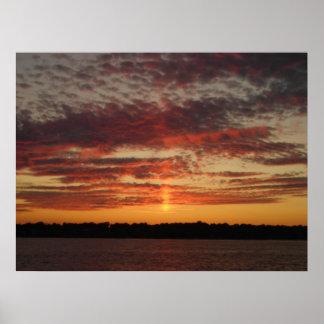 Low Horizon Sunset 3 Print