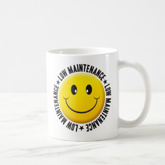 Low Maintenance Smiley Coffee Mug