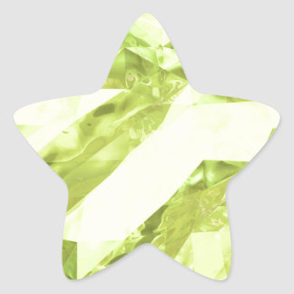 Low poly abstract star sticker