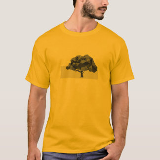 Low poly abstract tree men's t-shirt