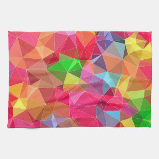low poly background abstract pattern bright colors tea towel