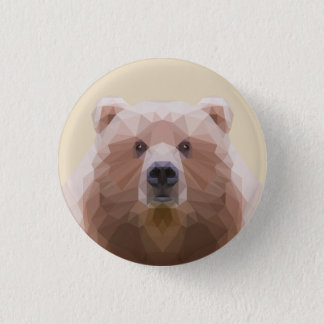Low poly bear on badge